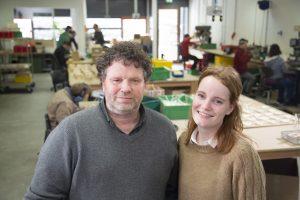 Jos en Lotte Nijs, eigenaars van Houtgenoten